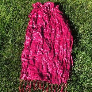 Maroon and silver scarf/wrap